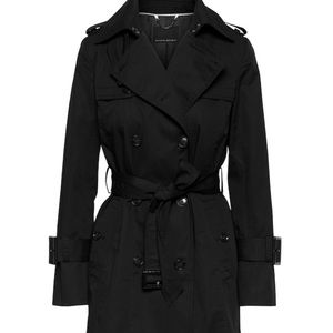 Banana Republic Black Trench Coat in XSP